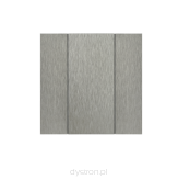 Iswitch 2 button natural aluminium eloxal mat unbrashed
