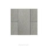 Iswitch 4 button natural aluminium eloxal mat unbrashed