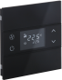 Rosa Glass-Thermostat-1F-Black-Status-No_Icon