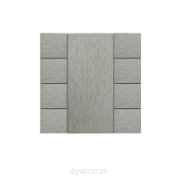 Iswitch 8 button natural aluminium eloxal mat unbrashed