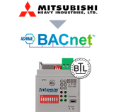Mitsubishi Heavy Industries FD and VRF to BACnet IP/MSTP Interface - 1 unit