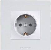 GROUNDED SOCKET 2P+E (s-earth) SHUTTERS MUSTANG GREY
